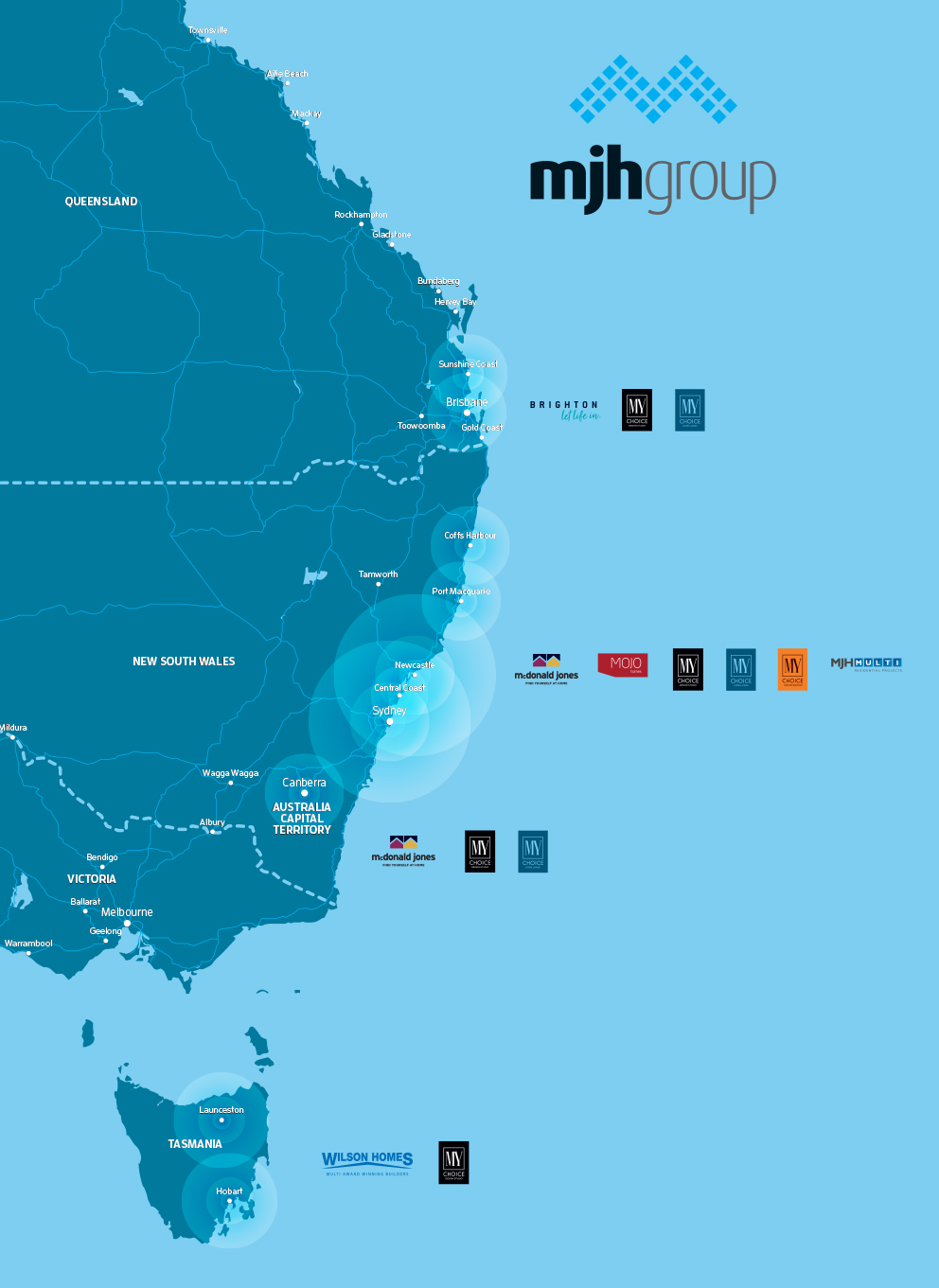 Our Locations Where we build new homes MJH Group